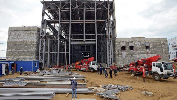 Строительство космодрома Восточный Амурской области. Архивное фото