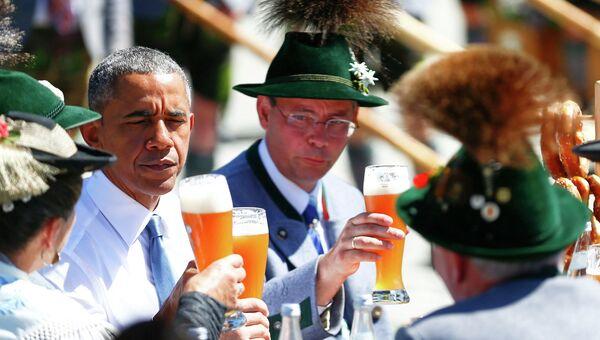 Барак Обама прибыл на саммит G7 в Баварии, 7 июня 2015