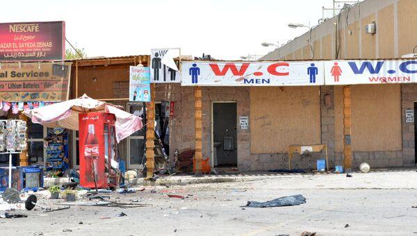Место теракта в Луксоре