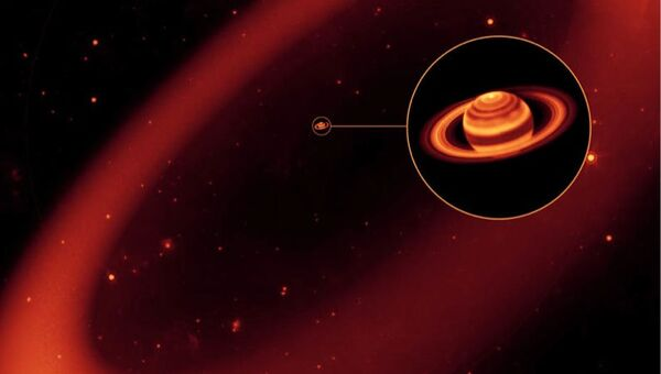 Так художник представил себе последнее кольцо Сатурна