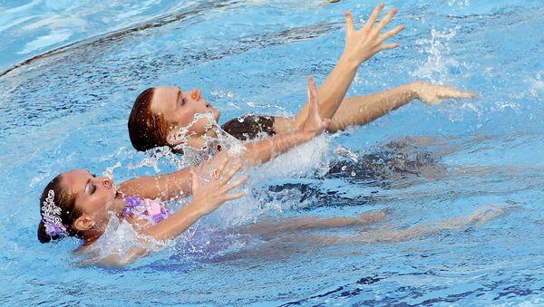 Синхронное плавание. Международный турнир. Смешанные дуэты