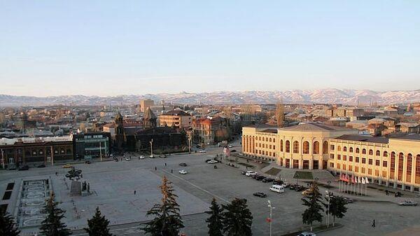 Вид на Гюмри, Армения. Архивное фото