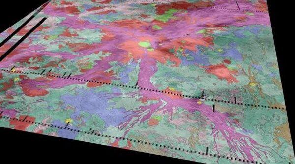 Молодые рифтовые зоны фиолетового цвета