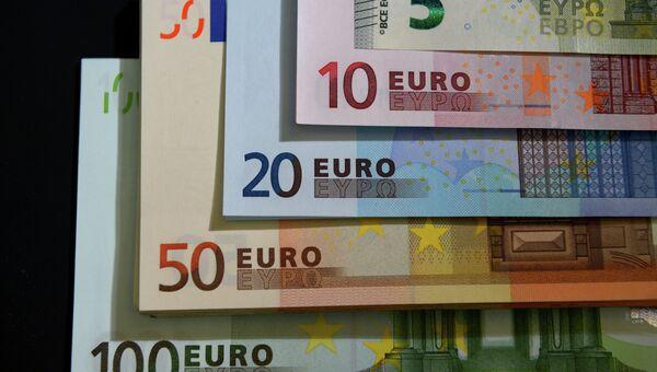 Купюры евро разного номинала