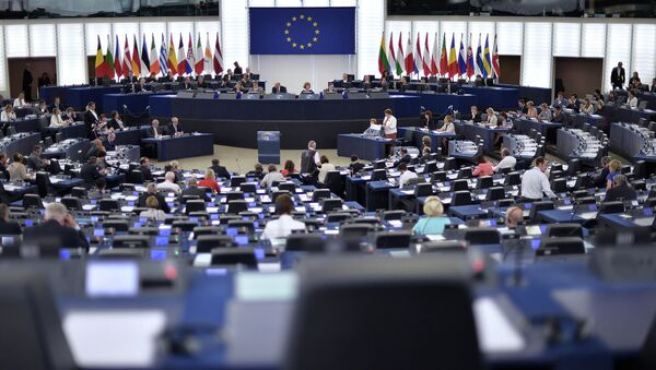 Заседание Европейского парламента Страсбурге