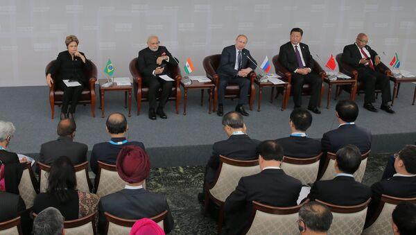 Встреча лидеров БРИКС с членами Делового совета БРИКС