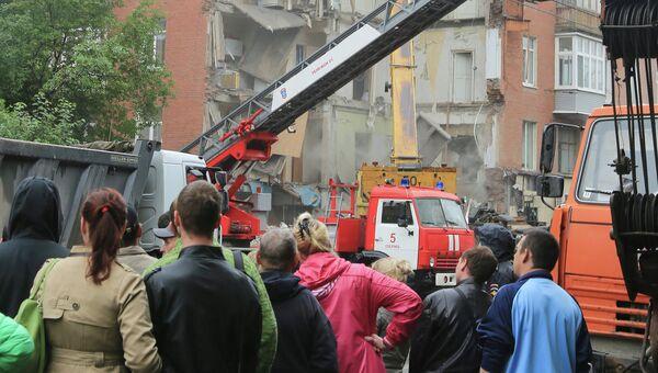 Часть обрушившегося жилого дома по адресу Куйбышева, 103 в Перми