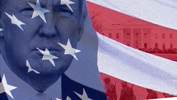 Коллаж Дональда Трампа из микроблога Twitter