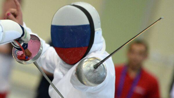 Российская шпажистка Татьяна Гудкова. Архивное фото