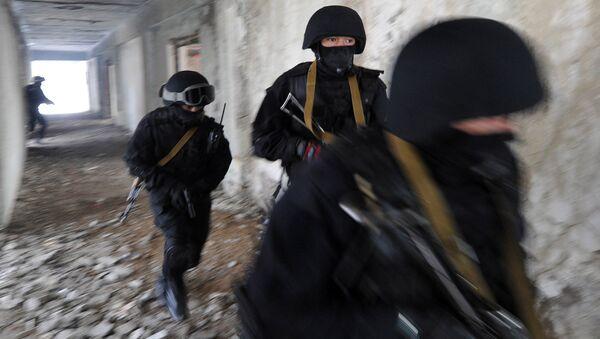 Сотрудники спецподразделения МВД Киргизии. Архивное фото