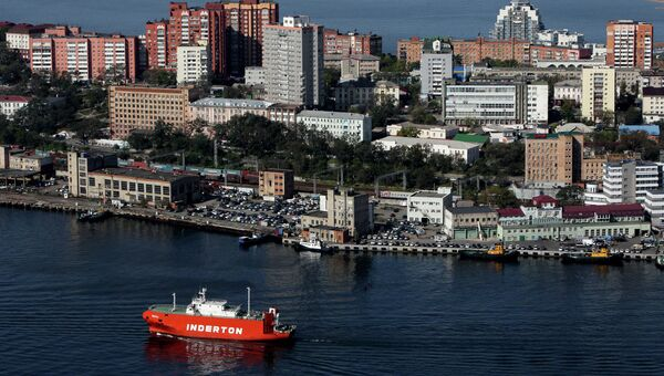 Виды Владивостока и бухты Золотой Рог с пилона вантового моста