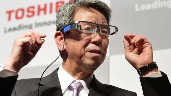 Президент Toshiba Хисао Танаки. Архивное фото