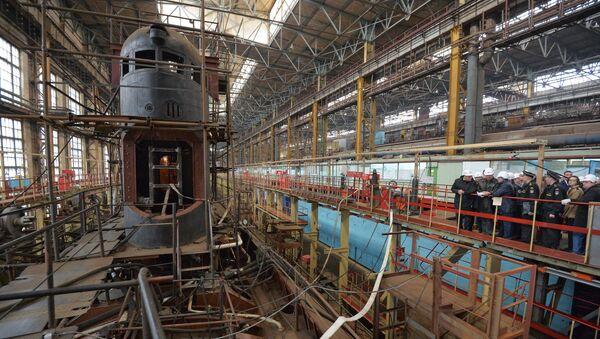 Амурский судостроительный завод в Комсомольске-на-Амуре. Архивное фото