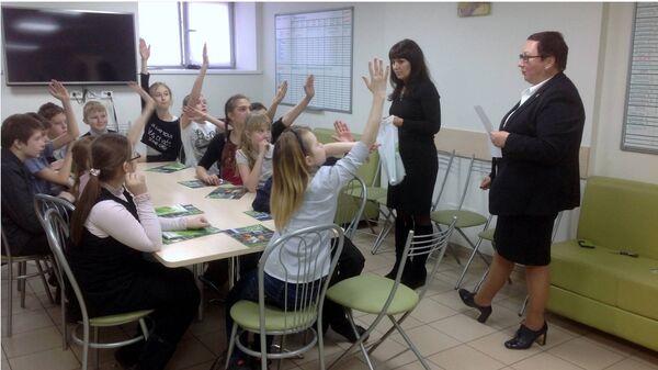 Урок финансовой грамотности в одной из школ Архангельской области