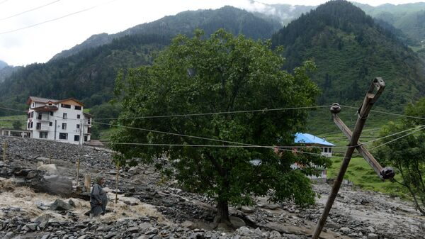 Последствия ливней в Кашмире, 17 июля 2015