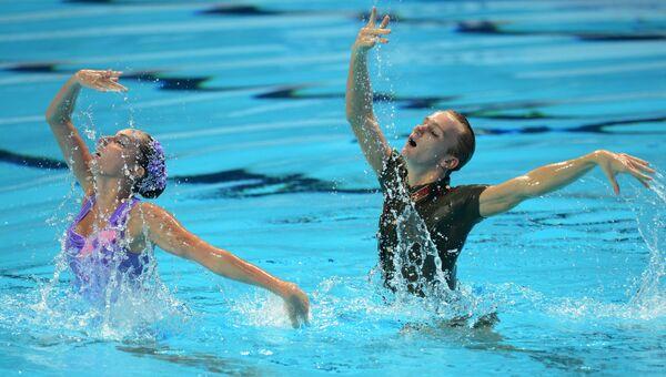 Чемпионат мира FINA 2015. Синхронное плавание. Смешанный дуэт. Техническая программа. Финал