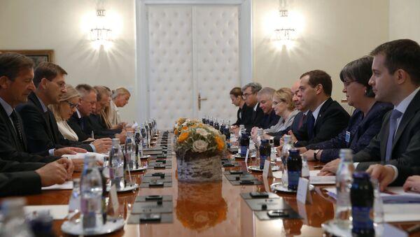 Рабочий визит в Словению премьер-министра РФ Д.Медведева.