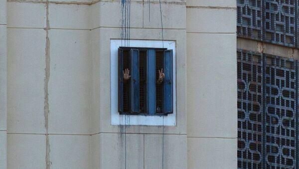Заключенные в тюрьме. Израиль. Архивное фото