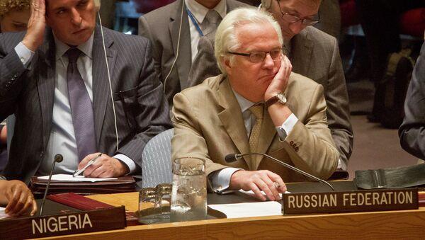 Виталий Чуркин на заседании Совбеза ООН по MH17