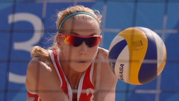 Игрок сборной России по пляжному волейболу Евгения Уколова. Архивное фото