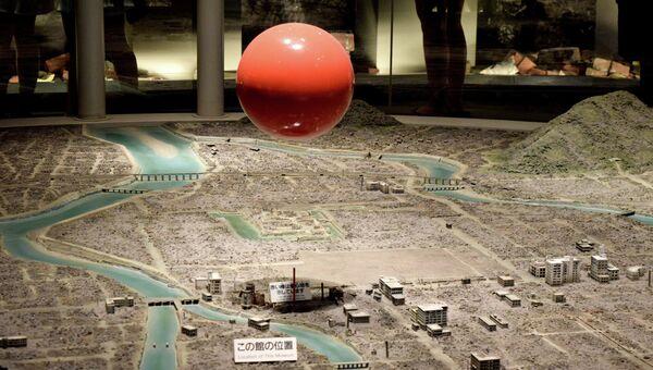 Панорама взрыва в мемориальном музее мира в Хиросиме. Архивное фото