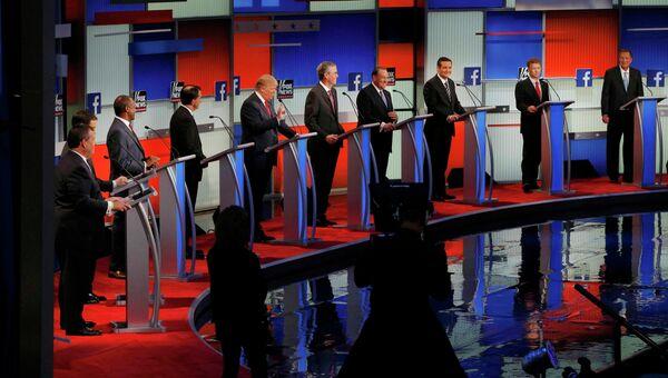 Кандидаты-республиканцы на президентских дебатах в США
