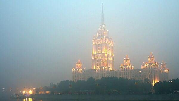 Дым от лесных пожаров в Москве. Архивное фото