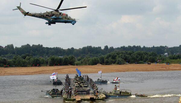 Состязания подразделений инженерных войск Открытая вода