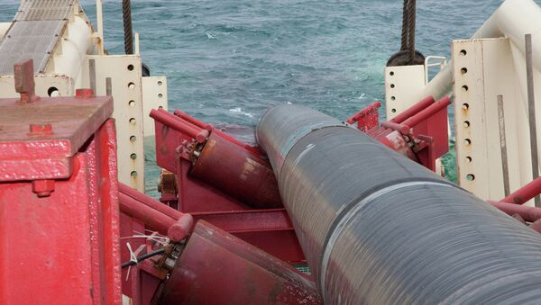 Работы компании Газпром по строительству газопровода