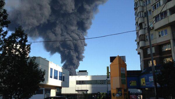 Пожар в Марьино