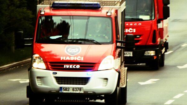 Пожарные машины, Чехия. Архивное фото