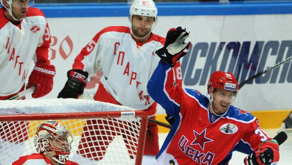 Игрок ЦСКА Ян Муршак (справа). Архивное фото
