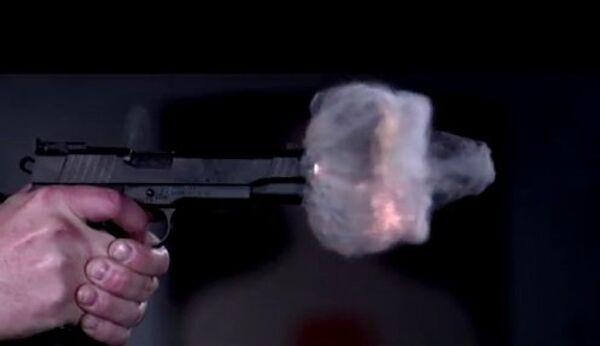 Полет пули: slow motion