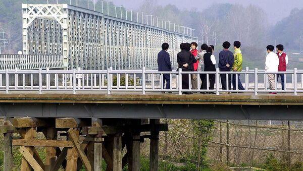 Мост Свободы на границе Северной и Южной Кореи