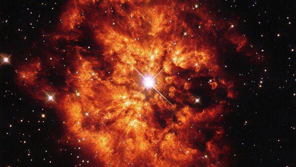Детальное изображение пары из звезды и туманности