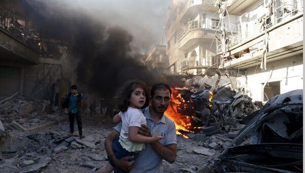 Обстрелы в центра Дамаска