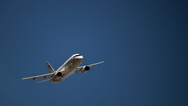 Самолет Sukhoy Superjet 100. Архивное фото