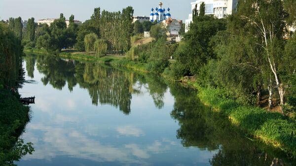 Река Цна в городе Тамбов. Архивное фото.