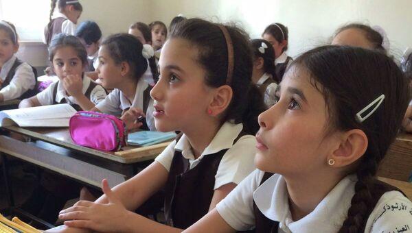 Преподавание русского языка в школах Палестины, организованные Русской гуманитарной миссией