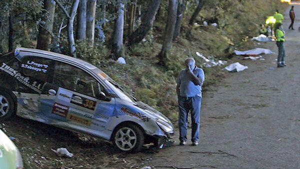 На месте аварии на ралли на северо-западе Испании