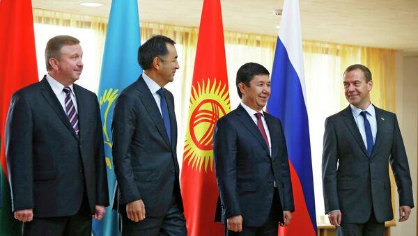 Премьер-министр РФ Д.Медведев принимает участие в заседании межправительственного совета стран-членов ЕАЭС в Белоруссии