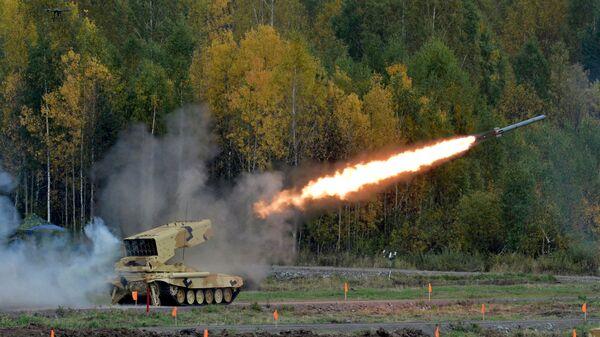 Тяжелая огневая система ТОС-1А Солнцепек на Russia arms expo