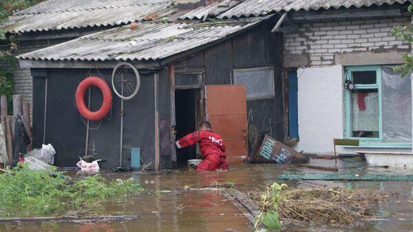 Паводок в районе Комсомольска-на-Амуре. Архивное фото