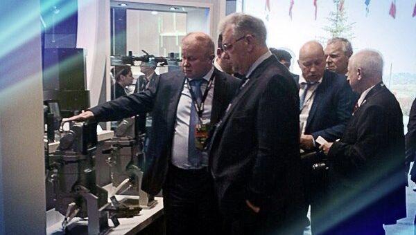 Генеральный директор холдинга Швабе Сергей Максин на выставке Russia Arms Expo 2015