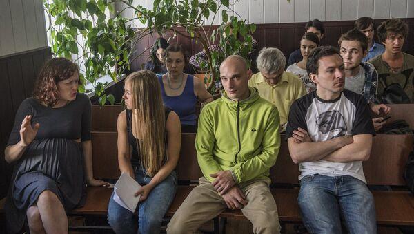 Заседание суда по делу о покраске звезды на Котельнической набережной