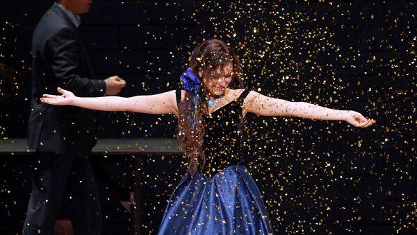 Ирина Лунгу в опере Верди Травиата на сцене Венской государственной оперы. Архивное фото