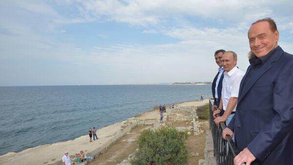 Сильвио Берлускони в Крыму. Архивное фото