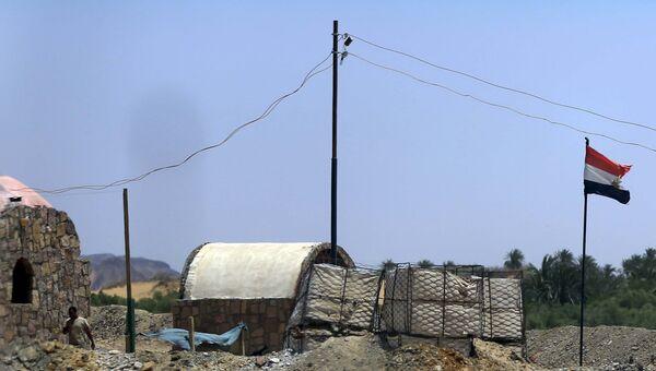 Место расположения сил безопасности Египта в Западной пустыне. Архивное фото
