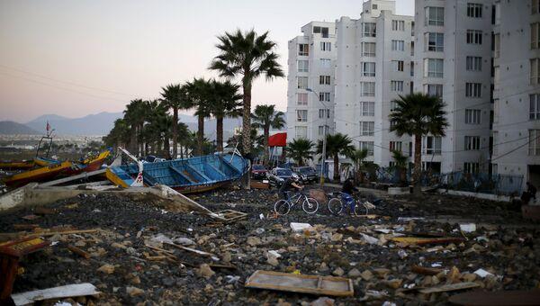 Последствия землетрясения в городе Кокимбо в Чили, 17 сентября 2015
