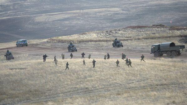 Тактический эпизод уничтожения условной крупной вооруженной террористической группировки в рамках стратегических командно-штабных учений Центр-2015
